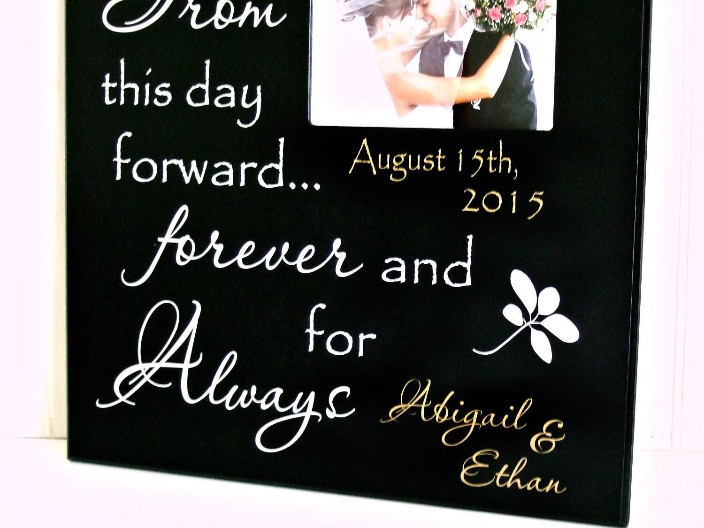 Boda marco/personalizado regalo para novia y novio/regalos para la ...