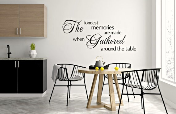 Dining Room Wall Decal Fondest Memories Dining Room Sign Etsy