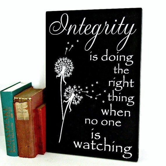 Quotes By Cs Lewis Integrity Quote Wood Plaque Sign Etsy