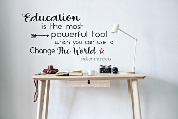 classroom decor teacher wall decal educational quotes