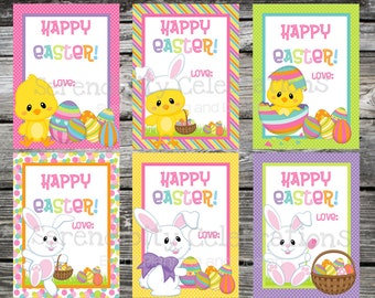 Easter, Easter Bunny, Easter Chick, Happy Easter Cards, Kids Easter Favors, Easter Stickers, Classroom Easter Treats, Easter Eggs, holiday