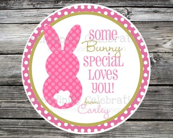 Easter Favor Tags, Easter Stickers, Easter Bunny, Bunny, Some Bunny loves you, holiday stickers, easter, rabbit, easter bunny favor tags