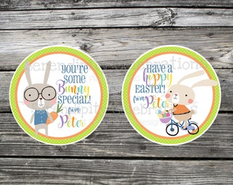 hoppy easter, Some Bunny Special, Easter Stickers, Easter Favor Tags, Easter Bunny, Bunny, holiday stickers, easter, easter bunny favor tag