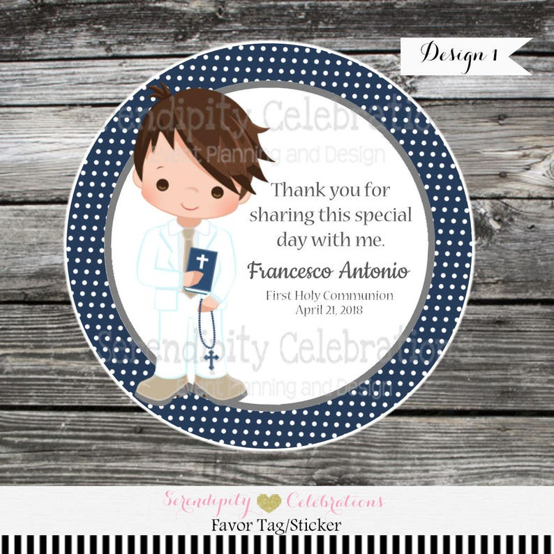 d8fe22422 First Communion boy tags stickers Confirmation Religious