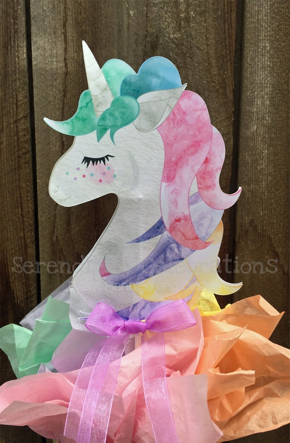 Unicorn Centerpiece Watercolor Unicorn Centerpiece Unicorn Party