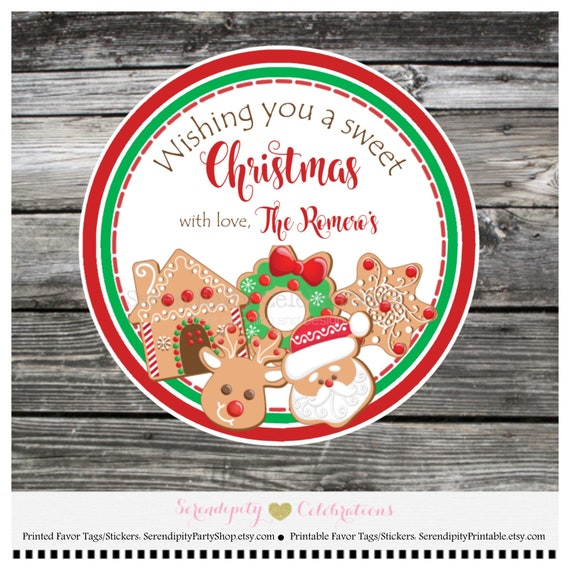 christmas treat labels christmas cooke stickers sweet treats for