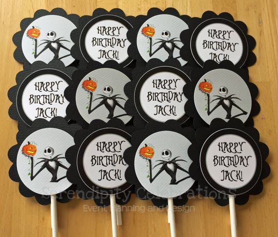 Cupcake Toppers Jack Skellington Nightmare Before Christmas Party
