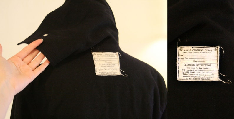 cfe4fc4be81 Naval Clothing Depot Wool Jumper   Navy Blue Black Cracker