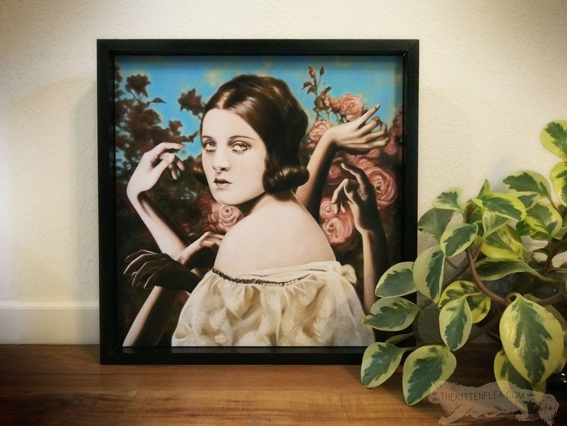 Surreal Realism Painting of Woman Original Painting Framed image 0