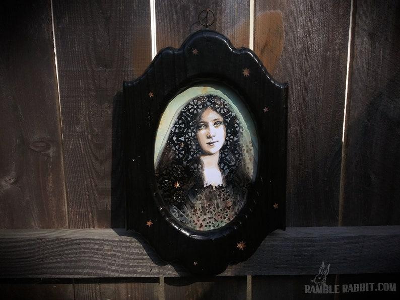 Evelyn Nesbit Portrait Painting Wood Frame Original Framed image 0