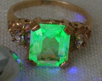 Uranium ring | Etsy