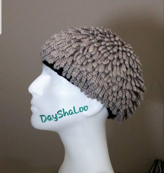 Couture Hat Nudu Hat Wig Hat African Bamileke Hat Billy Gibbons Hat ZZ Top Hat Nudu Beanie Dreadlocks Hat Chemo Hat