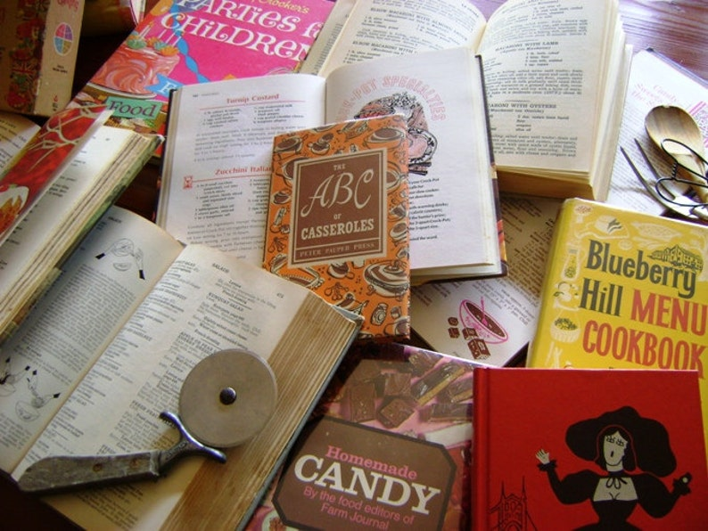 Vintage Monthly Cookbook Club 1 Year Subscription Published 1800 to 1975  Book Subscription