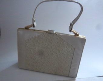 Mar-Shel Handbag   Purse   Vintage Beige Purse