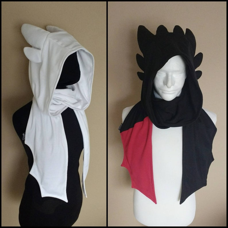 5. Dragon hoodie scarf