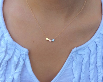 Gold Necklace Gold Heart Necklace Heart Necklace Dainty Gold Necklace Bridesmaid Gifts for Her Heart Jewelry Best Friend Gift Christmas Gift