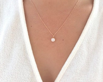 7e0113f760510 Tiny Rose Gold Necklace