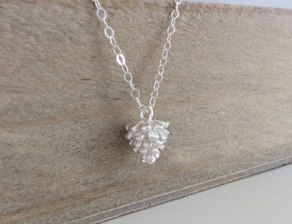 Silver Pine Cone Necklace Sterling Best