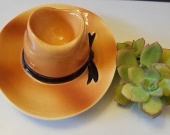 6eda2965551de Vintage Cowboy ashtray. Southwestern decor. Western decor. Cowboy hat  ashtray