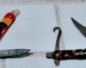 Lot of 2 vintage miniature Pocket knives Made in Japan