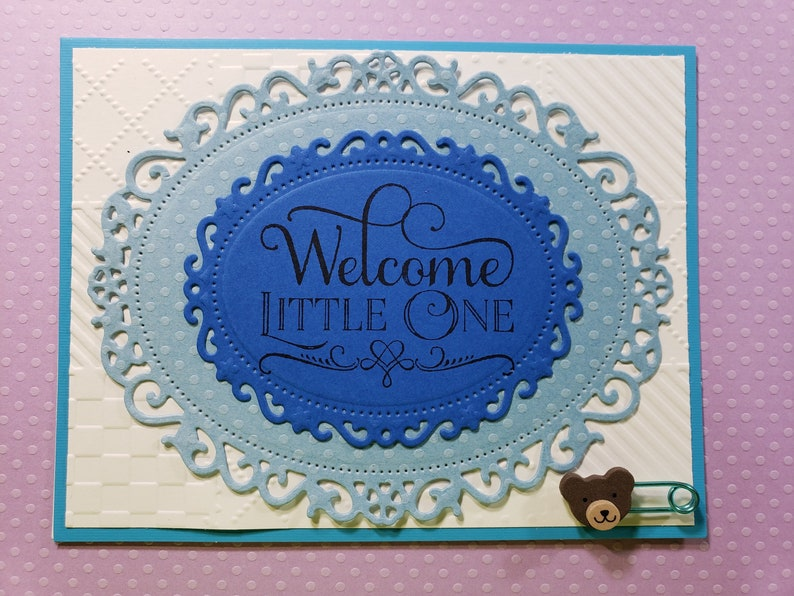 New Baby It/'s a Boy Blue Baby Card Handmade Greeting Card
