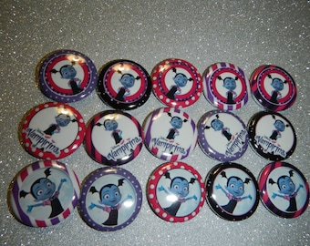 15 Vampirina Craft Flat Back Embellishment Buttons