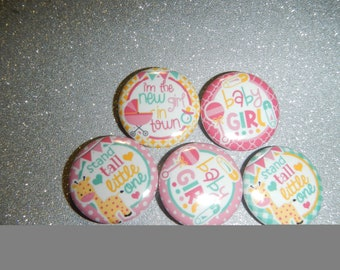 15 Baby Girl Inspired Craft Flat Back Embellishment Buttons