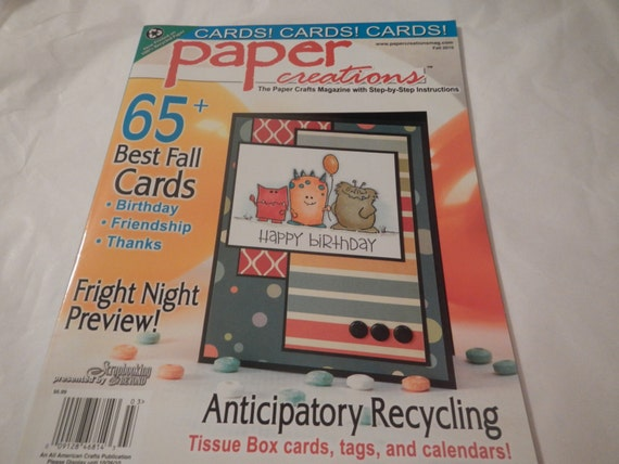 65 Paper Creations Cards Craft Instruction Pattern Book Etsy