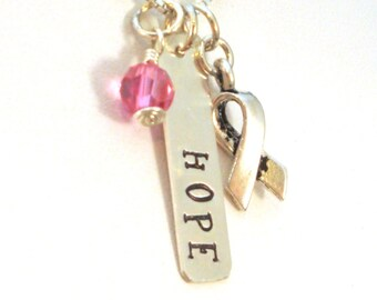 Breast Cancer Gifts   Hope Necklace   Breast Cancer Awareness Jewelry   Breast Cancer Necklace