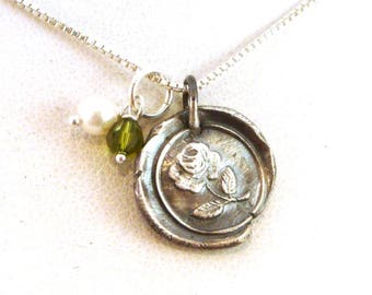 Kappa Delta Wax Seal Necklace / Kappa Delta Necklace / KD Sorority Jewelry / Official Licensed Product | Sorority Wax Seal Necklace