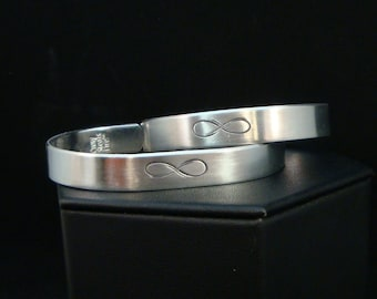 His and Hers Tribal Infinity Cuffs, Hypoallergenic Cuffs, Best Friends Jewelry