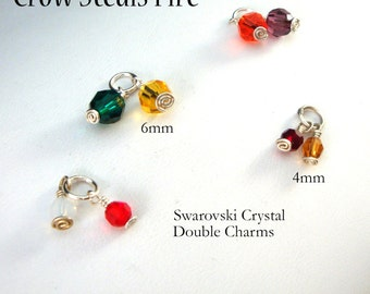 Add a Double Charm: Pair of Swarovski Crystal Charms