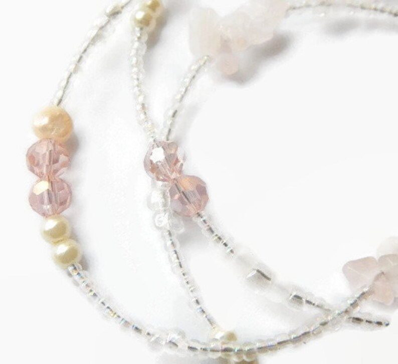 Rose Quartz Mother-to-be African Waist Beads Pregnancy Belly Chain African Body Jewelry Pink Waist Beads Expecting Baby Body Chain