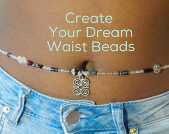Personalized Waist Beads, Custom Waist Beads, African Waist Beads,  Gift For Her, Waist Chain, Made to Order Belly Chain