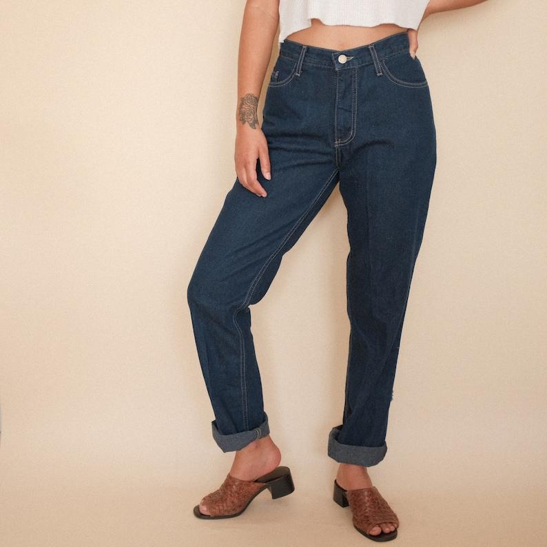 649e7f3f14aec Vintage Blue High Rise Denim Jeans   Dark Wash High Waisted