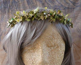 Fairy Queen Princess Vine Wreath Crown Tiara