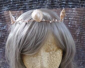 Mermaid Crown Tiara Seashells