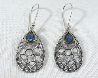 Kyanite Earrings-Kyanite Silver Earrings-Dangle Earrings-Gift for Her-Unique Earrings-Women/'s Gift Idea-Handmade Earrings-Birthstone