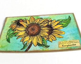 Checkbook Organizer Case Fabric Checkbook Organizer Checkbook Wallet Checkbook Cover Sunflower Butterfly Fabric Billfold Wallet