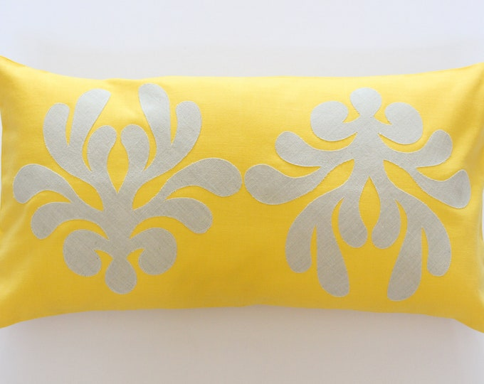 Yellow Decorative Throw Pillow Cover