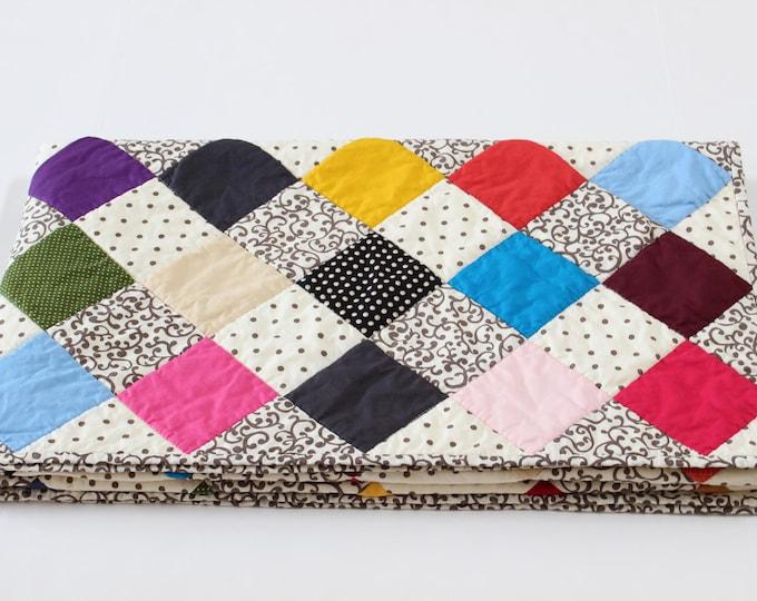 Colorful Checkerboard Farmhouse Quilt