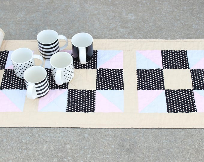 Modern Quilted Patchwork Table Runner