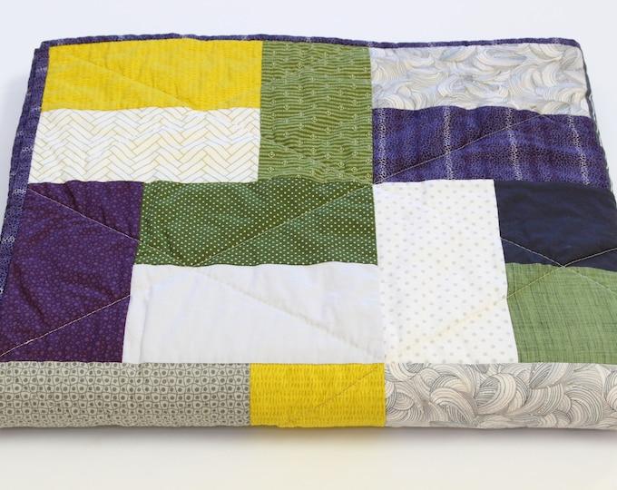 Masculine Modern Patchwork Lap/Sofa/Throw Quilt