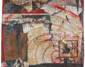 Quilting Arts Studio Cover Quilt Through the Lense of Time Art Quilt  Mixed Media Vintage Photos