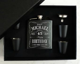 personalized flask etsy