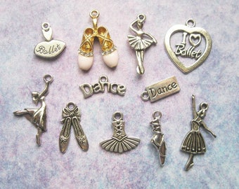 Ballet Charm Collection in Silver Tone - C2615