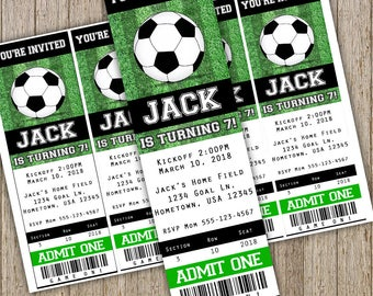 soccer invitation etsy