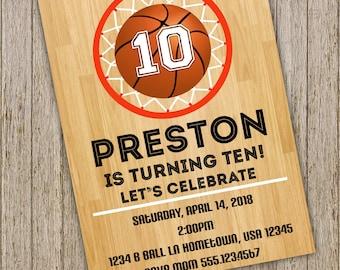 basketball party invitations etsy