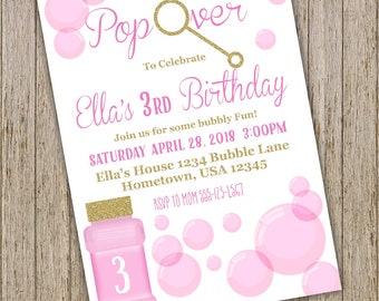 Bubble invitation etsy bubble birthday invitation bubble birthday party invitations bubble party invitation blowing bubbles birthday invite bubble birthday filmwisefo