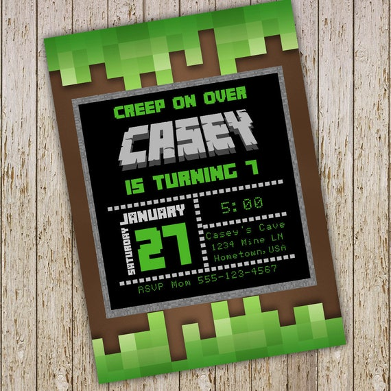 Video Game Birthday Party Invitations Video Game Invitations